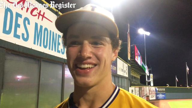 Johnston senior Jack Dreyer details what the team did during the lengthy rain delay, then talks about the Dragons' 7-1 win over Linn-Mar.
