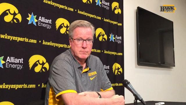 Connor McCaffery is redshirting as a true freshman this year for the Hawkeyes.