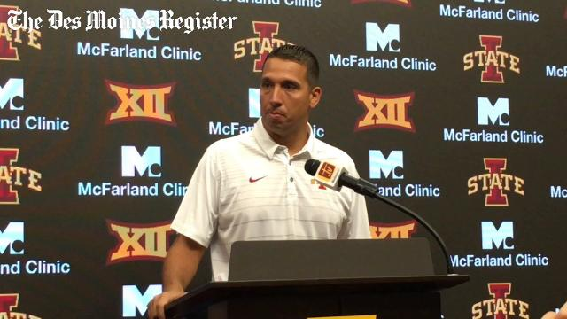 Matt Campbell discusses David Montgomery at media day