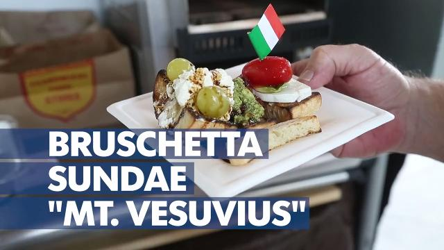 This Bruschetta Sundae erupts with flavor