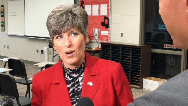 Sen. Joni Ernst would have liked a quicker response from President Donald Trump on the Charlottesville, Va., rally violence.
