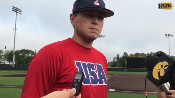 Iowa pitcher Brady Schanuel on joining the Hawkeyes this summer