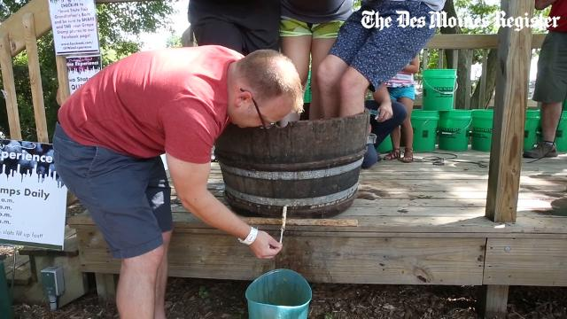 The grape stomp is quickly becoming a favorite thing to do at the Iowa State Fair.