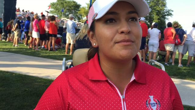 Lizette Salas shines on Solheim Cup's first day