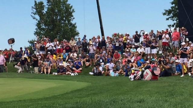 Lizette Salas, Team USA celebrate Solheim Cup win