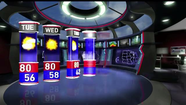 WHO-HD forecast: Clear and 80 on Tuesday