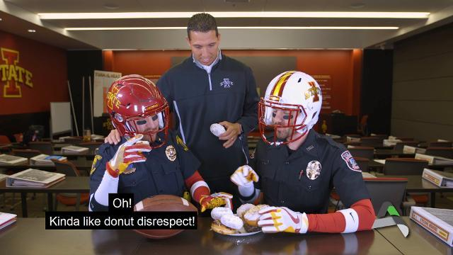 Watch Iowa State's Matt Campbell in doughnut-filled respect campaign video