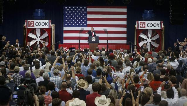 Trump to country: Dream big and bold