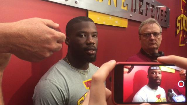 Iowa State LB Willie Harvey on his pick-six against Northern Iowa