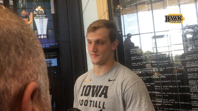 Iowa defensive lineman Matt Nelson has an older brother who went to Iowa State; hear how that conversion went.