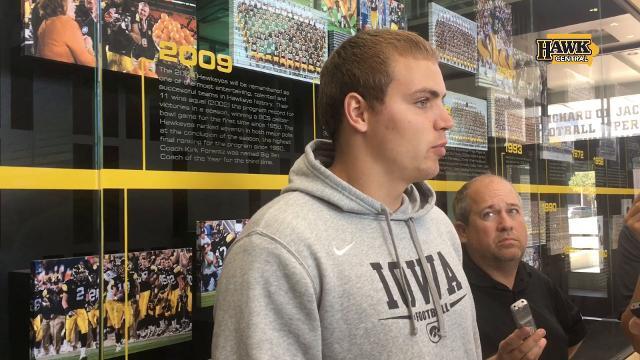 Iowa quarterback Nate Stanley says picking the brain of Ken O'Keefe is helpful.