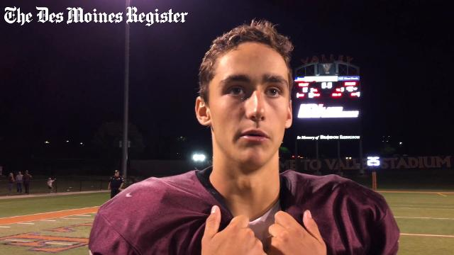 Quarterback Blake Clark talks about the Maroons' win.