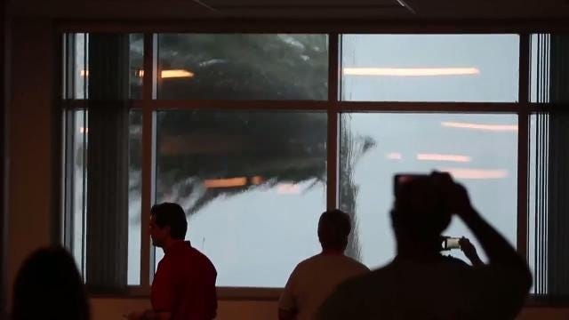 Hurricane Irma seen from the Naples Daily News newsroom