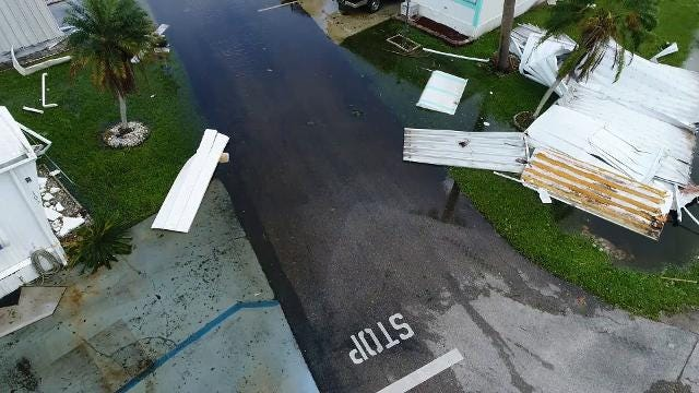 Drone video shows Hurricane Irma damage in Naples