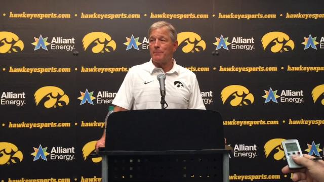 Iowa pulled away from visiting North Texas late in Saturday's game at Kinnick Stadium. Head coach Kirk Ferentz broke down the win with his opening statement after the game.
