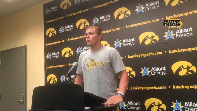 Iowa's quarterback praises the play call and execution
