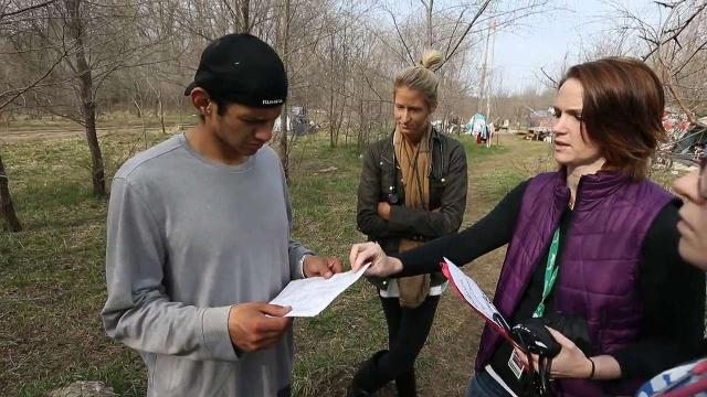 Take a look inside a homeless camp near downtown Des Moines as some of its residents give their opinion about Joppa Outreach's proposed tiny-house village for the homeless.