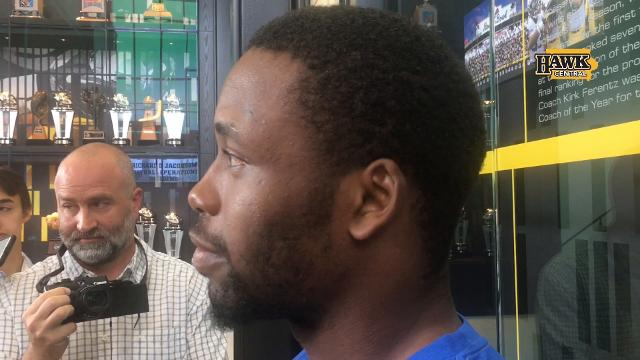 Hear what Akrum Wadley thought of his controversial 'high-stepping' penalty
