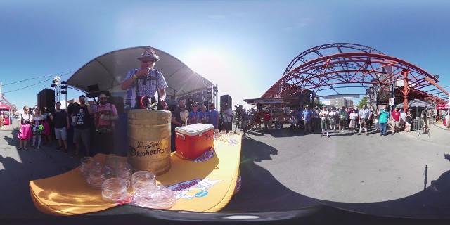 Tapping the Golden Keg in 360 degrees
