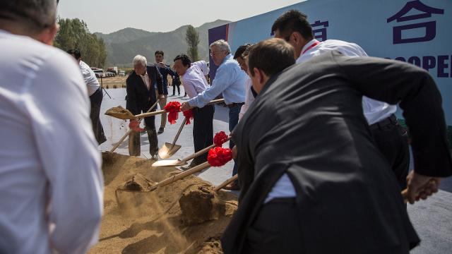 Take a look at what a Chinese farm groundbreaking looks like as officials from China and Iowa gather to mark the start of the China-US demonstration farm, being built based on an Iowa farm, in Luanping County, Hebei, China.