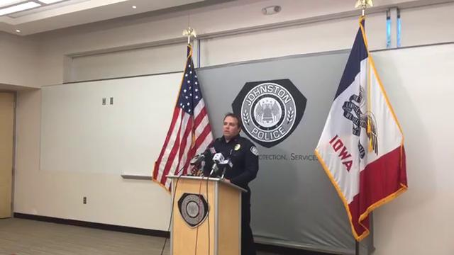 Lt. Tyler Tompkins of the Johnston Police Department spoke to reporters Thursday, Sept. 28, 2017, about the arrests of four teenagers on suspicion of robbery, sexual abuse, and assault in connection with an attack on another teen.