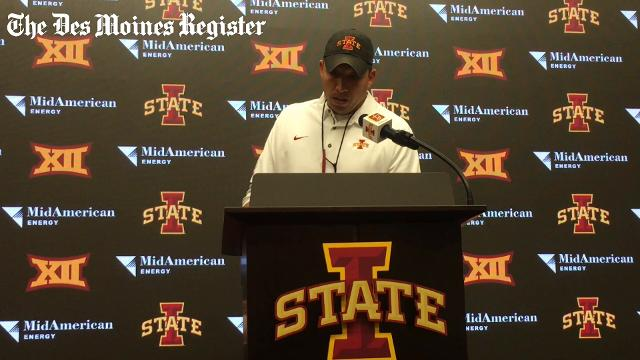 Matt Campbell discusses David Montgomery's lack of rushes