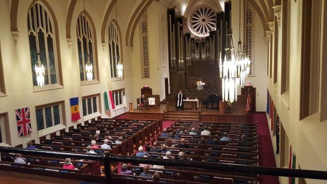 The Westminster Presbyterian Church held a special service Monday night to give the community a place to mourn following Sunday's deadly mass shooting.
