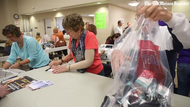 Thousands flocked to Osage in north-central Iowa to score hot deals on Fox River socks during the charity sock sale.