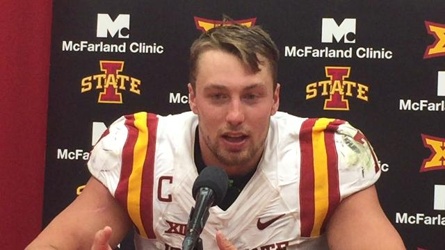 Joel Lanning talks about Iowa State's upset of No. 3 Oklahoma