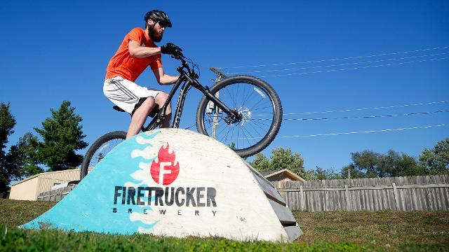 Bikes and beer at Firetrucker's Alempics Biking Pentathlon