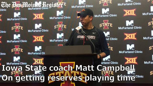 Coach Matt Campbell talks about Iowa State's defensive depth after the Cyclones' 45-0 win over Kansas.