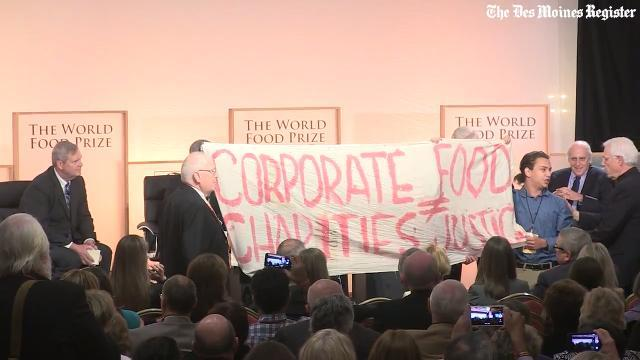 Protesters disrupt opening session of Iowa Hunger Summit