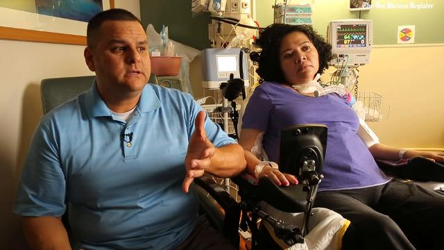 Rick De La Cruz wife's Ana was a quadriplegic and needed a ventilator at all times to breathe. She was in the Des Moines area's last nursing home that provided ventilator care, but it stopped offering that service. She passed away on Oct. 10