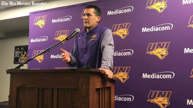 UNI coach Ben Jacobson discusses the FBI investigation that has rocked college basketball.