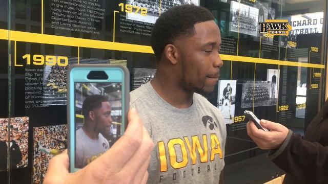 Akrum Wadley recalls the first big game of his Hawkeye career