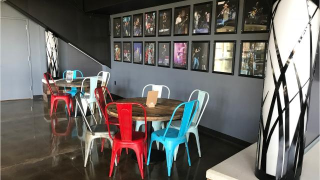 This restaurant is located on the third floor of Wells Fargo Arena. With a newly revamped space and a newly revamped menu including sliders, wings and handmade egg rolls, it's a great spot to relax before a game or concert.