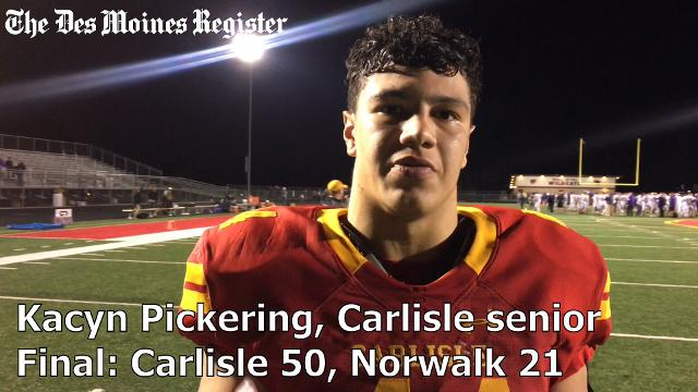 Carlisle tops Norwalk to clinch a Class 3A playoff spot