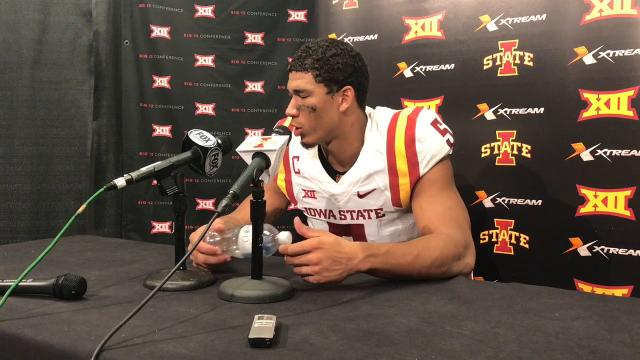 The Cyclone senior was again impressed by his quarterback.
