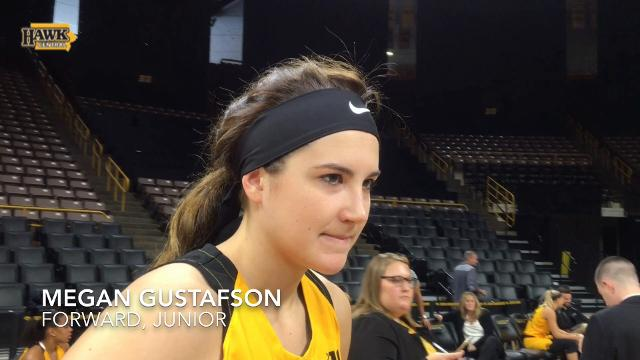 Megan Gustafson discusses team's chip on shoulder to return to NCAA Tournament.