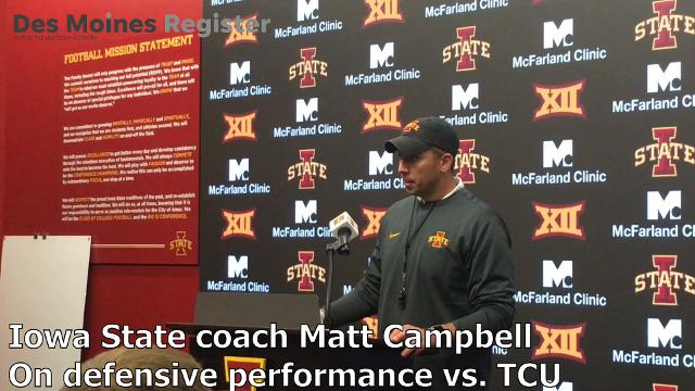 Matt Campbell discusses his defense's performance against TCU