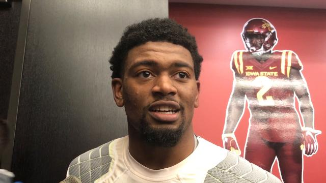 Marcel Spears Jr. on his big pick in the Cyclones' win over No. 4 TCU
