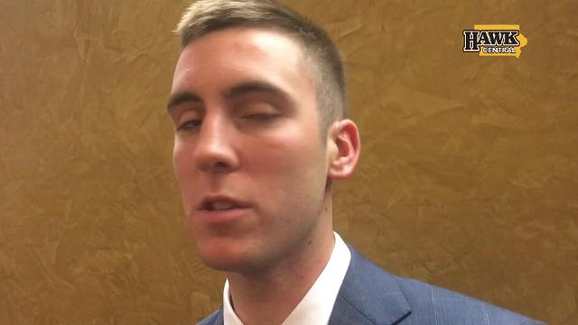 Iowa guard Connor McCaffery talks about playing for his dad.