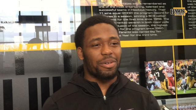 Akrum Wadley is happy to celebrate for Nate Stanley