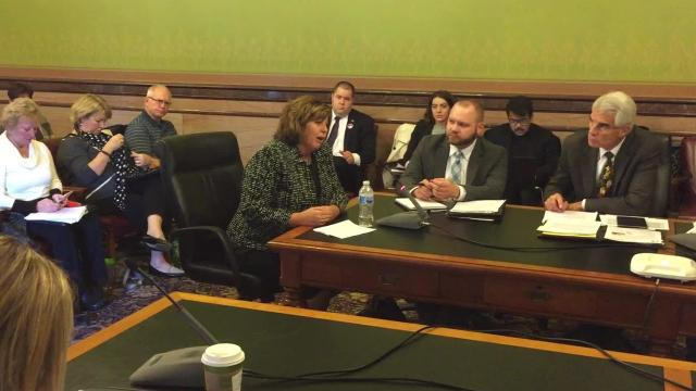 Cheryl Harding, Iowa president for the AmeriHealth Caritas Medicaid management company, explained at a Statehouse meeting that her company was leaving Iowa because it couldn't reach contract terms with state officials.