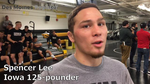 Iowa mega-recruit Spencer Lee from Pennsylvania was a popular topic of conversation during Iowa's media day.