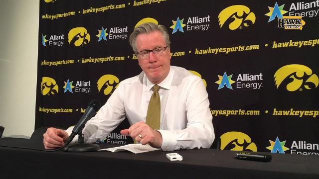 Fran McCaffery likes Cook, Wagner, outside shooting.