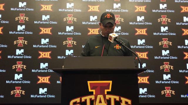 Matt Campbell addresses Saturday's controversial pick
