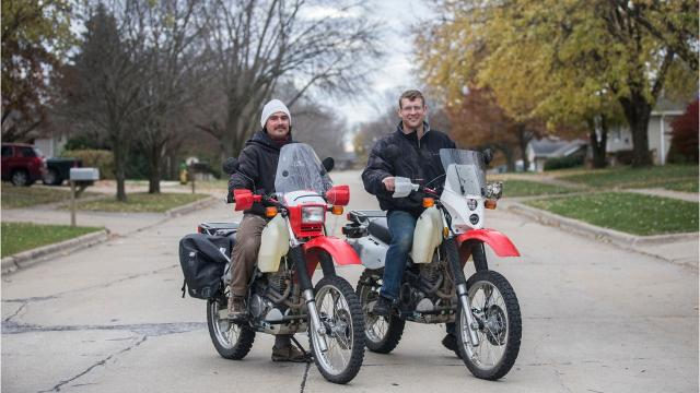 Ross and Seth Naylor, brothers from Ankeny, are preparing for a six-month, 20,000-mile motorcycle ride from Iowa to South American with two goals, to find adventure and raise $40,000 for the World Riders Association.