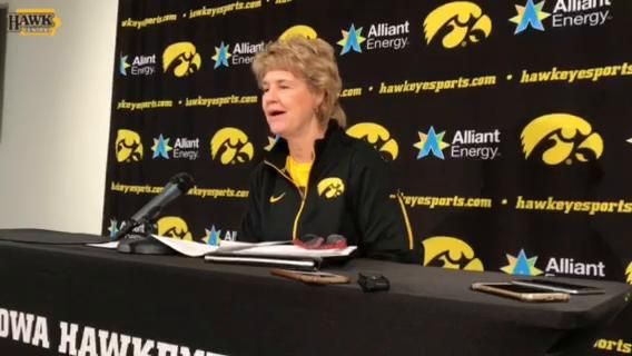 Iowa women's basketball coach Lisa Bluder talks about a productive weekend and Kathleen Doyle's injury during Monday's press conference.