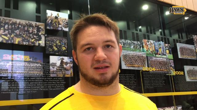 Injured Iowa lineman: 'Watching the games' is worst part